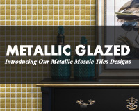 Metallic Glazed Series: Introducing Our Metallic Mosaic Tiles Designs-Metallic mosaic tiles, Metallic mosaic wall tiles, Metallic mosaic tile bathroom