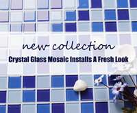 New Collection: Crystal Glass Mosaic Tile Installs A Fresh Look-Glass mosaic, Glass mosaic tile, Crystal glass mosaic tiles