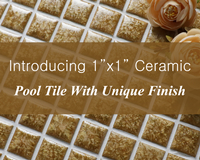 "Introducing Our Fambe 1""x1"" Ceramic Pool Tile With Unique Finish-1 inch pool tiles, 1x1 ceramic pool tile, Ceramic tile for pool, Ceramic pool tile manufacturers"