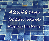 Wave Your Swimming Pool in Simple Ceramic Mosaic Tiles-Wave pool mosaic, Blue pool mosaic, Green pool mosaic, Wave mosaic tiles