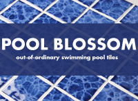 Pool Blossom: Out of the Ordinary Swimming Pool Tiles-Pool tile, Ceramic mosaic, Pattern mosaic pool tiles