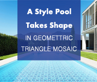 A Style Pool Takes Shape In Geometric Triangle Mosaic -Triangle Mosaic, Triangle Tile, Triangle Mosaic Tiles