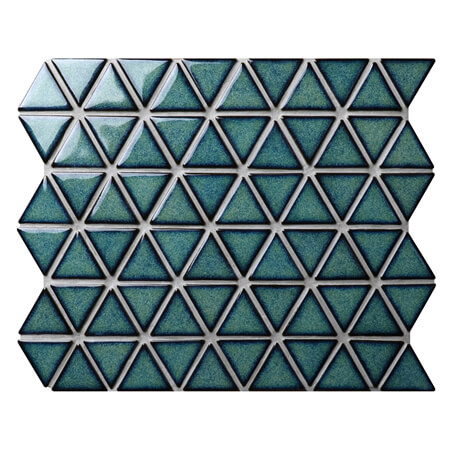 Triangle Dark Green BCZ716A,glazed porcelain tile, mosaic triangle, green pool tiles