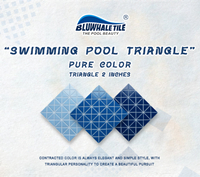 Introducing 3 Awesome Triangle Blue Glass Pool Tiles -blue glass pool tile, glass pool tiles, swimming pool glass mosaic tiles