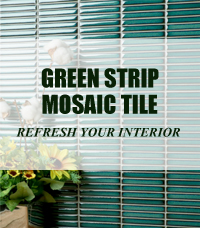 12x92mm Dark Green Strip Mosaic Tiles Perfectly Refresh Your Interiors-strip mosaic, strip mosaic tiles, strip bathroom tiles, pool tile manufacturers
